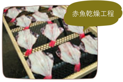 赤魚乾燥工程
